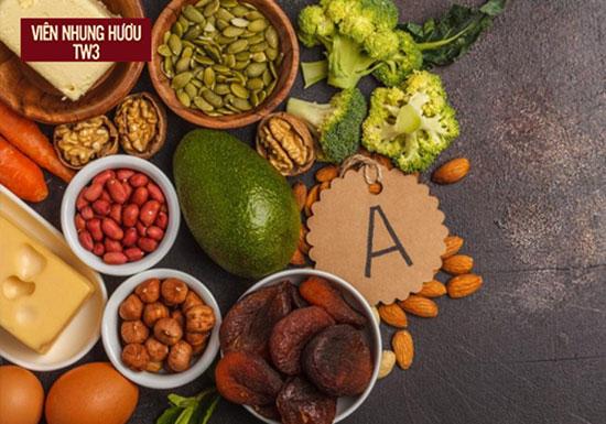 Vitamin A rất tốt cho mắt có trong nhiều loại thực phẩm