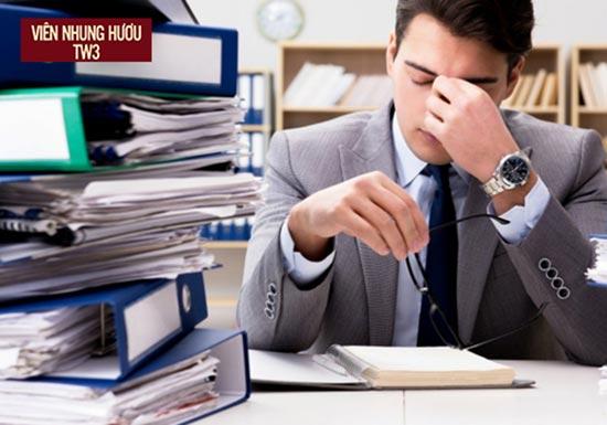 Công việc căng thẳng là nguyên nhân gây bệnh ít người để ý