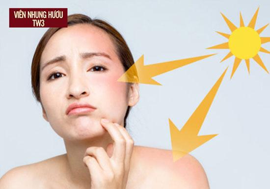 Tác động từ tia UV là nguyên nhân dẫn đến lão hóa da