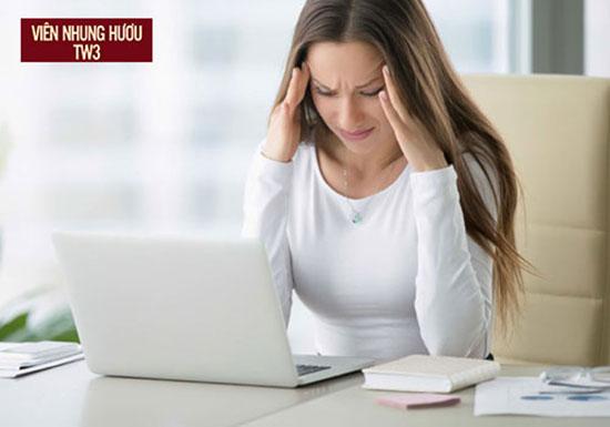 Suy nhược cơ thể khiến hiệu quả công việc giảm sút do mất tập trung