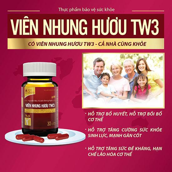 Viên nhung hươu TW3 là sản phẩm lý tưởng giúp tăng đề kháng cho người lớn