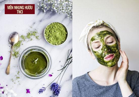 Mặt nạ trà xanh giúp diệt khuẩn làm sạch lỗ chân lông