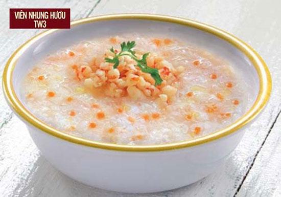 Cháo tôm súp lơ giúp bổ sung Canxi và Acid Folic cho người bệnh