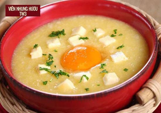 Cháo trứng món ngon bổ dưỡng dành cho người mới ốm dậy