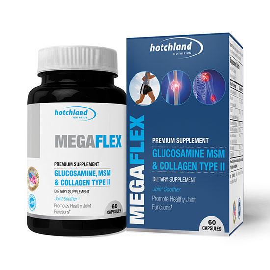 Megaflex glucosamine collagen bổ sung các chất tăng dịch khớp, mạnh gân