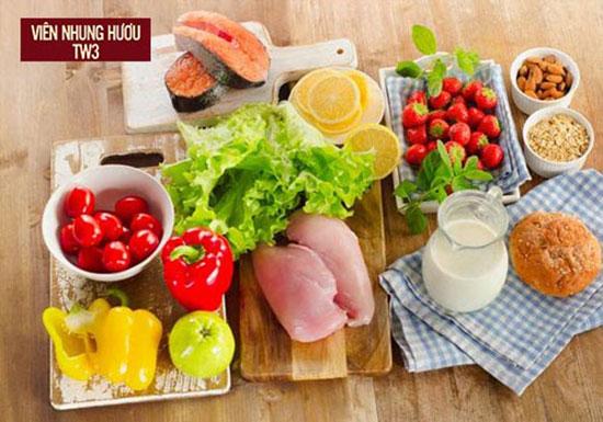 Chế độ dinh dưỡng tốt cũng sẽ giúp cải thiện tình trạng hoa mắt chóng mặt ù tai rất tốt