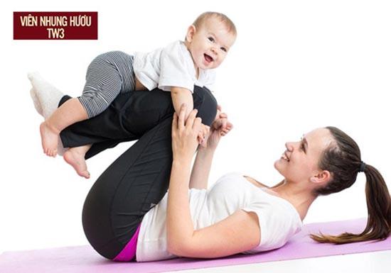 Tập thể dục để nhanh lấy lại vóc dáng và giải tỏa stress sau sinh