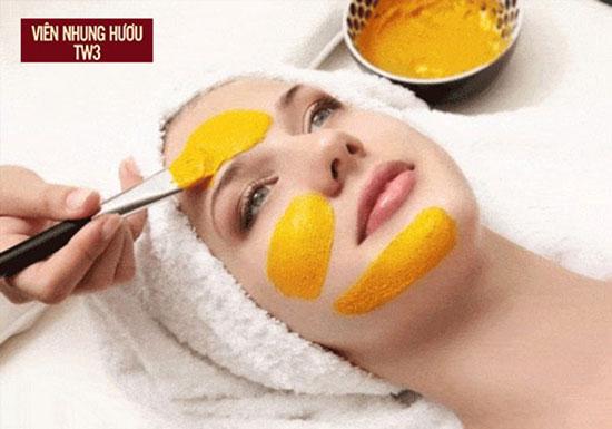 Mặt nạ nghệ, mật ong giúp phụ nữ sau sinh làm đẹp da mặt hiệu quả