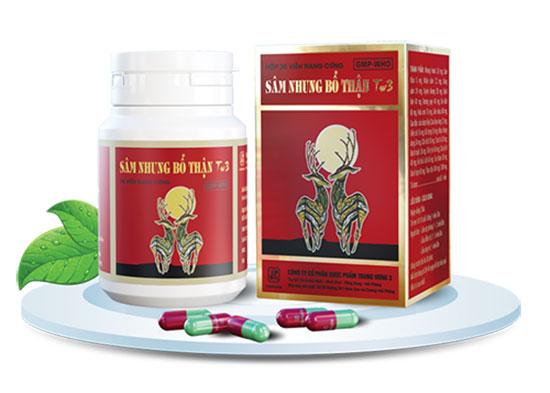 Sâm nhung bổ thận TW3 là sản phẩm hàng đầu trong thuốc bổ thận cho người già